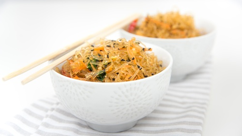 Featured Recipe: Kelp Noodles with Creamy Coconut Tahini Sauce